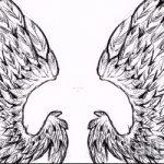 Классный эскиз татуировки крылья – рисунок наколки крыло подойдет для женское тату крылья