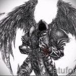 Интересный эскиз тату крылья – рисунок наколки крыло подойдет для тату крылья на животе