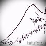 Классный эскиз тату крылья – рисунок наколки крыло подойдет для крыло ангела демона тату