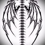 Интересный эскиз татуировки крылья – рисунок наколки крыло подойдет для тату крылья картинки