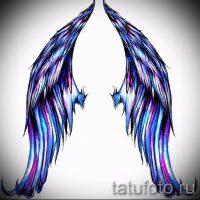 Эскизы тату крылья