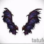 Необычный эскиз татуировки крылья – рисунок тату крыло подойдет для тату ангельские крылья на спине