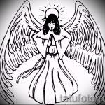 Интересный эскиз тату крылья – рисунок тату крыло подойдет для тату в виде крыльев