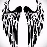 Крутой эскиз татуировки крылья – рисунок наколки крыло подойдет для красивые тату крылья