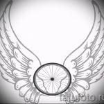Необычный эскиз татуировки крылья – рисунок тату крыло подойдет для тату крылья ангела на спине у девушки