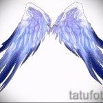 Крутой эскиз татуировки крылья – рисунок наколки крыло подойдет для тату крылья у мужчин