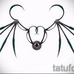 Классный эскиз тату крылья – рисунок тату крыло подойдет для сколько стоит тату спину крылья