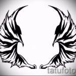 Классный эскиз тату крылья – рисунок наколки крыло подойдет для тату звезда крылья