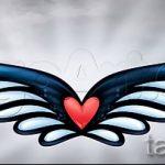 Интересный эскиз татуировки крылья – рисунок тату крыло подойдет для тату крылья ангела мужские