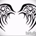 Необычный эскиз татуировки крылья – рисунок тату крыло подойдет для тату кошка с крыльями значение