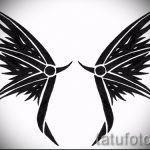 Интересный эскиз тату крылья – рисунок тату крыло подойдет для что означает тату крылья ангела на спине
