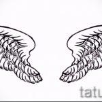 Крутой эскиз тату крылья – рисунок наколки крыло подойдет для что означает тату крылья на спине