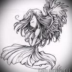 Необычный эскиз тату крылья – рисунок наколки крыло подойдет для тату льва с крыльями
