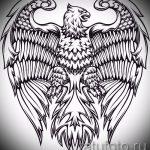 Интересный эскиз тату крылья – рисунок наколки крыло подойдет для крылья тату на ключицах