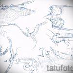 Необычный эскиз татуировки крылья – рисунок тату крыло подойдет для что означает тату крылья ангела