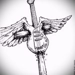 Интересный эскиз татуировки крылья – рисунок тату крыло подойдет для тату человек крыльями