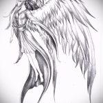 Классный эскиз татуировки крылья – рисунок тату крыло подойдет для тату крылья ангела на спине