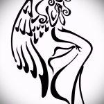 Классный эскиз тату крылья – рисунок наколки крыло подойдет для что обозначает тату крылья