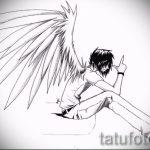 Крутой эскиз тату крылья – рисунок наколки крыло подойдет для эскиз тату ангел с крыльями