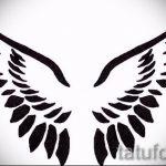 Необычный эскиз тату крылья – рисунок тату крыло подойдет для тату крест с крыльями