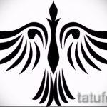 Классный эскиз тату крылья – рисунок наколки крыло подойдет для тату часы крыльями