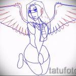 Необычный эскиз татуировки крылья – рисунок тату крыло подойдет для тату крыло на плече
