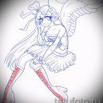 Необычный эскиз тату крылья – рисунок наколки крыло подойдет для тату крылья ангела на спине мужские