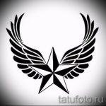 Классный эскиз татуировки крылья – рисунок тату крыло подойдет для тату эскизы крылья на спину