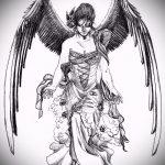 Необычный эскиз тату крылья – рисунок наколки крыло подойдет для женское тату крылья
