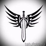 Классный эскиз татуировки крылья – рисунок наколки крыло подойдет для тату крыло птицы