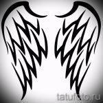 Необычный эскиз татуировки крылья – рисунок тату крыло подойдет для тату крылья двоих