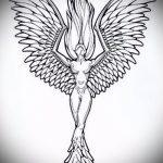 Необычный эскиз татуировки феникс – эксклюзивный рисунок для использования как эскиз для тату с фениксом