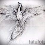 Необычный эскиз тату феникс – стильный рисунок для использования как эскиз для татуировки с фениксом