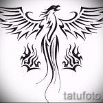 Эксклюзивный эскиз татуировки феникс – оригинальный рисунок для использования как эскиз для татуировки с фениксом