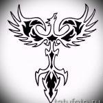 Эксклюзивный эскиз наколки феникс – стильный рисунок для использования как эскиз для татуировки с огненной птицей