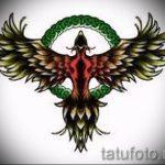 Необычный эскиз тату феникс – оригинальный рисунок для использования как эскиз для тату с фениксом