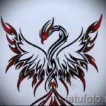 Интересный эскиз наколки феникс – эксклюзивный рисунок для использования как эскиз для тату с фениксом