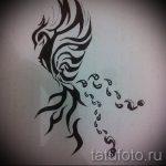 Классный эскиз тату феникс – стильный рисунок для использования как эскиз для татуировки с фениксом