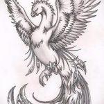 Крутой эскиз наколки феникс – стильный рисунок для использования как эскиз для татуировки с фениксом