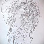 Крутой эскиз тату феникс – красивый рисунок для использования как эскиз для тату с огненной птицей