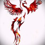 Необычный эскиз наколки феникс – эксклюзивный рисунок для использования как эскиз для татуировки с фениксом