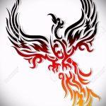 Крутой эскиз наколки феникс – оригинальный рисунок для использования как эскиз для татуировки с огненной птицей