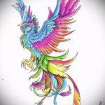 Эксклюзивный эскиз тату феникс – красивый рисунок для использования как эскиз для тату с фениксом