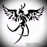 Интересный эскиз наколки феникс – оригинальный рисунок для использования как эскиз для тату с огненной птицей