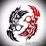 Классный эскиз наколки феникс – эксклюзивный рисунок для использования как эскиз для татуировки с огненной птицей