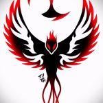 Эксклюзивный эскиз татуировки феникс – красивый рисунок для использования как эскиз для татуировки с фениксом