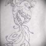 Классный эскиз тату феникс – стильный рисунок для использования как эскиз для татуировки с огненной птицей
