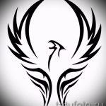 Необычный эскиз наколки феникс – эксклюзивный рисунок для использования как эскиз для тату с фениксом