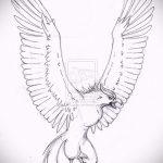 Классный эскиз наколки феникс – оригинальный рисунок для использования как эскиз для тату с фениксом