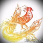 Классный эскиз наколки феникс – эксклюзивный рисунок для использования как эскиз для тату с фениксом
